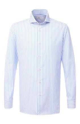 Мужская хлопковая сорочка LUIGI BORRELLI голубого цвета, арт. EV08/LUCIAN0/TS30855 | Фото 1