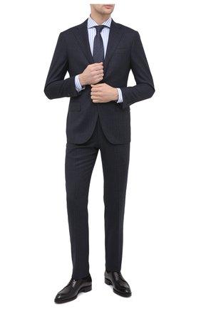 Мужская хлопковая сорочка LUIGI BORRELLI голубого цвета, арт. EV08/LUCIAN0/TS30855 | Фото 2