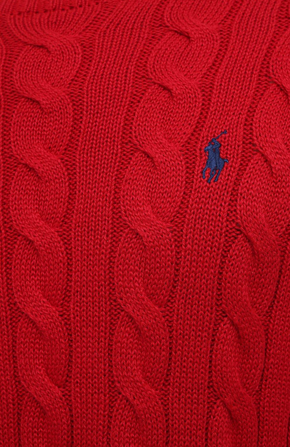 Мужской хлопковый джемпер POLO RALPH LAUREN красного цвета, арт. 710775885 | Фото 5