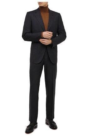 Мужской костюм из шерсти и шелка ZEGNA COUTURE темно-серого цвета, арт. 822N24/21L2N5 | Фото 1