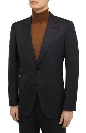 Мужской костюм из шерсти и шелка ZEGNA COUTURE темно-серого цвета, арт. 822N24/21L2N5 | Фото 2