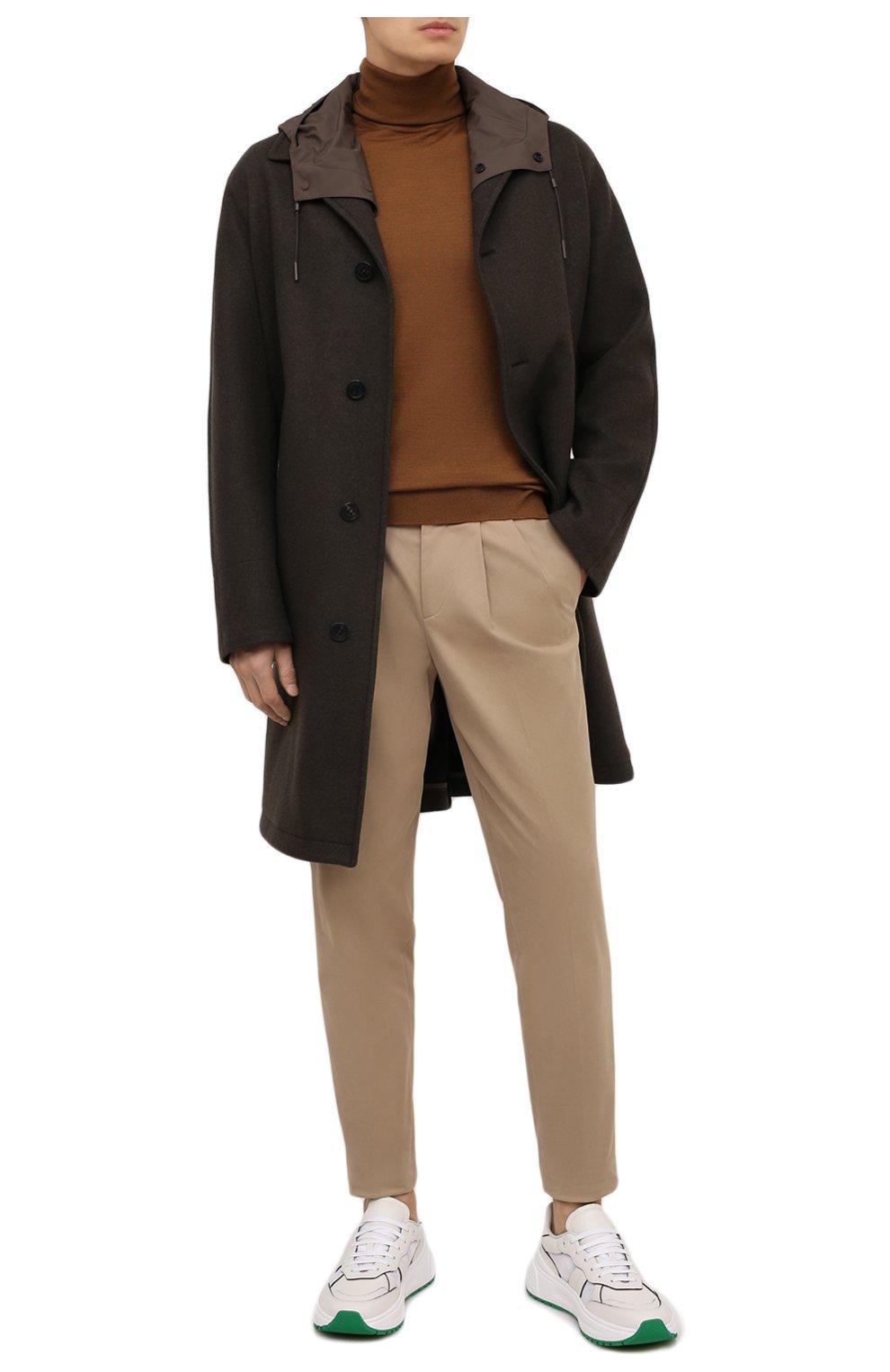 Мужской пальто из шерсти и кашемира ERMENEGILDO ZEGNA хаки цвета, арт. UVT29/V304 | Фото 3