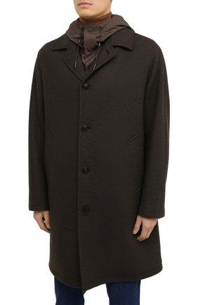 Мужской пальто из шерсти и кашемира ERMENEGILDO ZEGNA хаки цвета, арт. UVT29/V304 | Фото 4