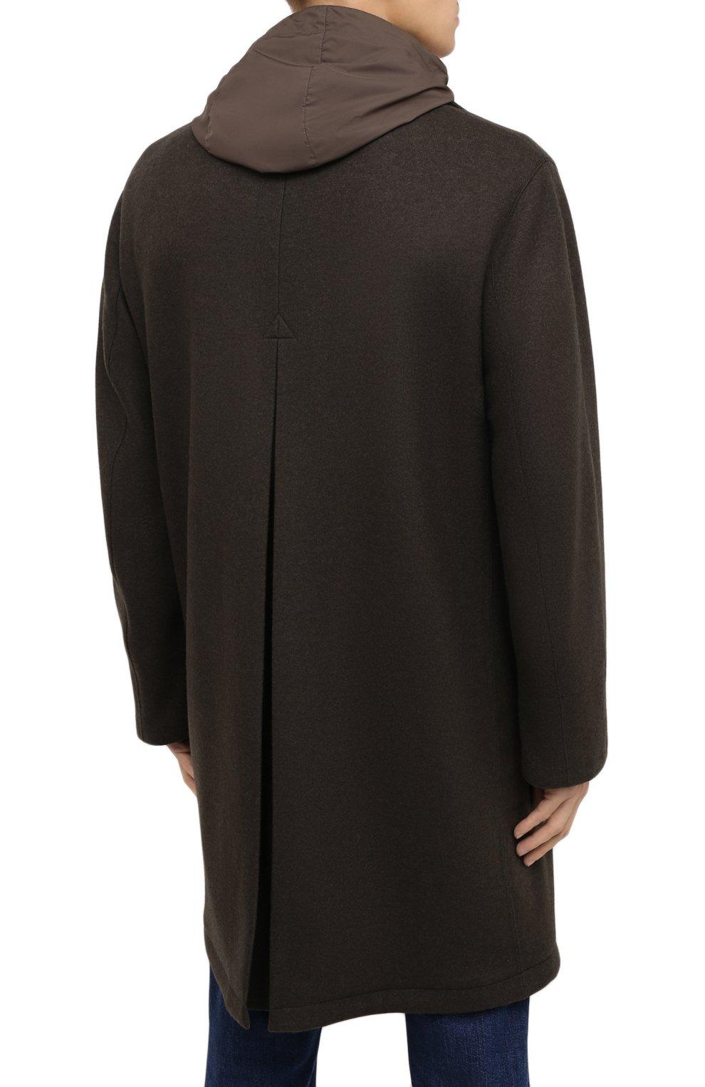 Мужской пальто из шерсти и кашемира ERMENEGILDO ZEGNA хаки цвета, арт. UVT29/V304 | Фото 5