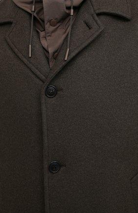 Мужской пальто из шерсти и кашемира ERMENEGILDO ZEGNA хаки цвета, арт. UVT29/V304 | Фото 6
