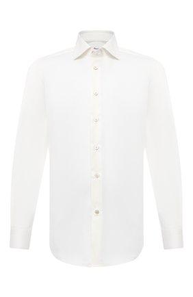 Мужская хлопковая сорочка KITON кремвого цвета, арт. UCIH0750405 | Фото 1