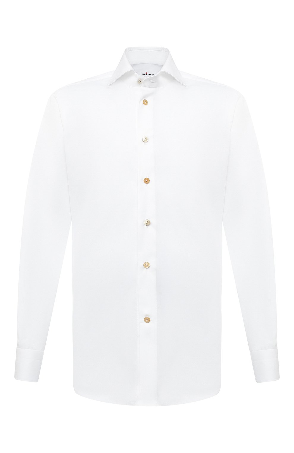 Мужская хлопковая сорочка KITON белого цвета, арт. UCIH0750301   Фото 1