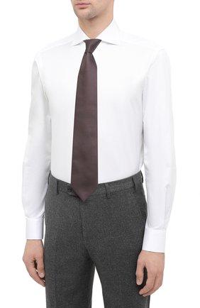 Мужская хлопковая сорочка KITON белого цвета, арт. UCIH0750301   Фото 4