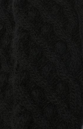 Женские шерстяные носки DOLCE & GABBANA черного цвета, арт. FC700A/G2UAZ | Фото 2