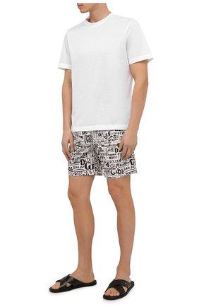 Детского плавки-шорты DOLCE & GABBANA белого цвета, арт. M4A13T/HSMLU | Фото 2