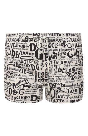 Детского плавки-шорты DOLCE & GABBANA белого цвета, арт. M4A06T/HSMLU | Фото 1