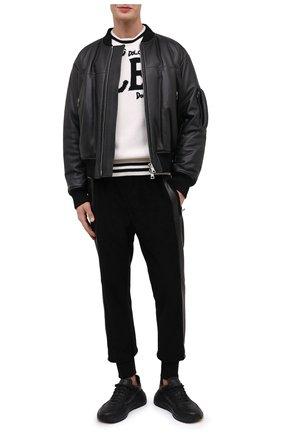 Мужской шерстяной свитер DOLCE & GABBANA белого цвета, арт. GXC03Z/JAVYP | Фото 2