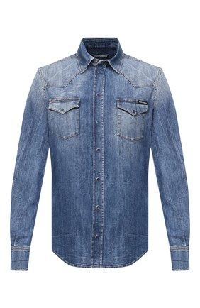 Мужская джинсовая рубашка DOLCE & GABBANA синего цвета, арт. G5EX7D/G8CS3 | Фото 1