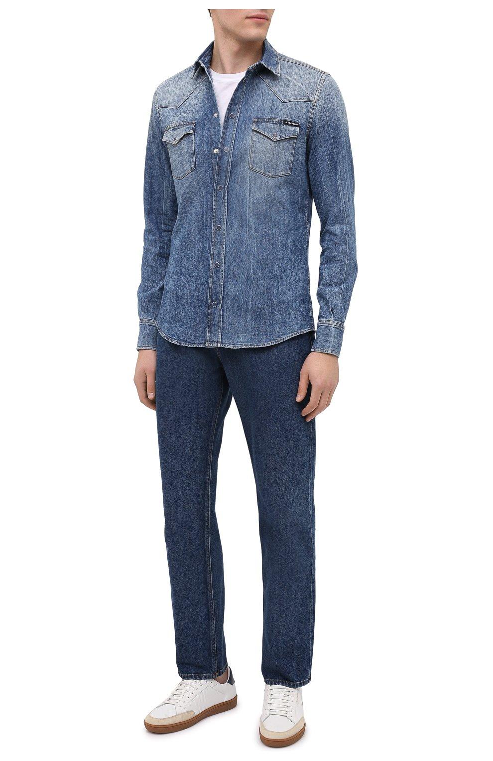 Мужская джинсовая рубашка DOLCE & GABBANA синего цвета, арт. G5EX7D/G8CS3 | Фото 2