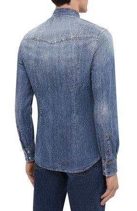 Мужская джинсовая рубашка DOLCE & GABBANA синего цвета, арт. G5EX7D/G8CS3 | Фото 4