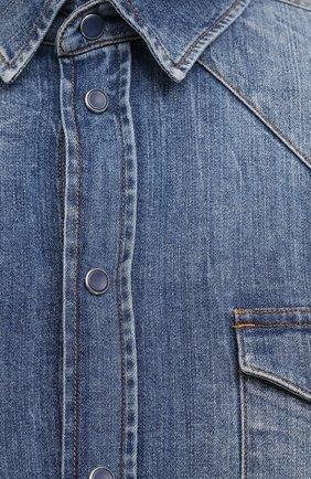 Мужская джинсовая рубашка DOLCE & GABBANA синего цвета, арт. G5EX7D/G8CS3 | Фото 5