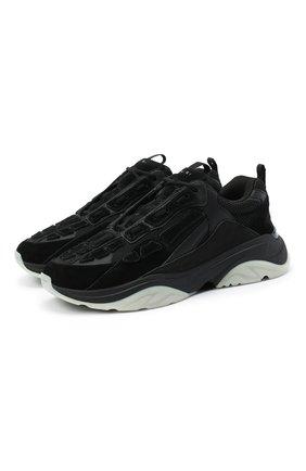 Мужские комбинированные кроссовки bone runner AMIRI черного цвета, арт. W0F22489MS   Фото 1