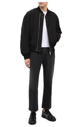 Мужские кожаные кеды vl7n valentino garavani VALENTINO черного цвета, арт. UY0S0C58/WRQ | Фото 2