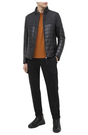 Мужские кожаные кеды BOGNER черного цвета, арт. 103-6523/C0L0GNE 6A | Фото 2