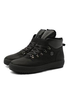 Мужские замшевые ботинки BOGNER черного цвета, арт. 103-A543/ANCH0RAGE M1D | Фото 1