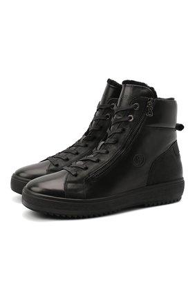 Мужские кожаные ботинки BOGNER черного цвета, арт. 103-A723/ANCH0RAGE M4A | Фото 1