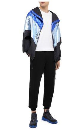 Мужские текстильные кроссовки FENDI синего цвета, арт. 7E1347 AC7H | Фото 2