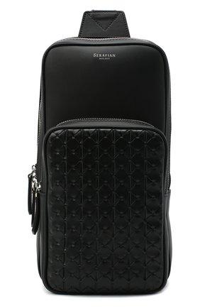 Мужской кожаный рюкзак mosaico SERAPIAN черного цвета, арт. SM0SAMML7132M16A | Фото 1