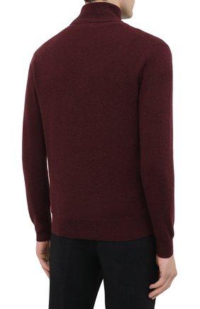 Мужской шерстяной джемпер POLO RALPH LAUREN бордового цвета, арт. 710723053 | Фото 4