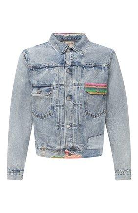Мужская джинсовая куртка POLO RALPH LAUREN голубого цвета, арт. 710798263 | Фото 1