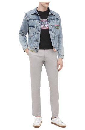 Мужская джинсовая куртка POLO RALPH LAUREN голубого цвета, арт. 710798263 | Фото 2
