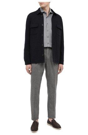 Мужской шерстяные брюки ALTEA темно-серого цвета, арт. 2063058 | Фото 2
