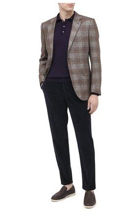 Мужские хлопковые брюки ALTEA темно-синего цвета, арт. 2063023 | Фото 2