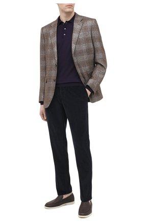 Мужское шерстяное поло ALTEA фиолетового цвета, арт. 2061114 | Фото 2