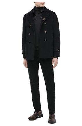 Мужской пальто из шерсти и кашемира bolgi-le MOORER темно-синего цвета, арт. B0LGI-LE/A20M640LEN0 | Фото 2