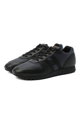 Мужские комбинированные кроссовки HOGAN темно-синего цвета, арт. HXM4290CZ620EF | Фото 1