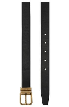 Мужской кожаный ремень DOLCE & GABBANA черного цвета, арт. BC4337/AW374 | Фото 3