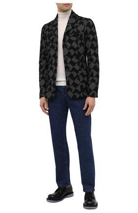 Мужской пиджак из кашемира и вискозы GIORGIO ARMANI черного цвета, арт. 6HSG56/SJWAZ   Фото 2