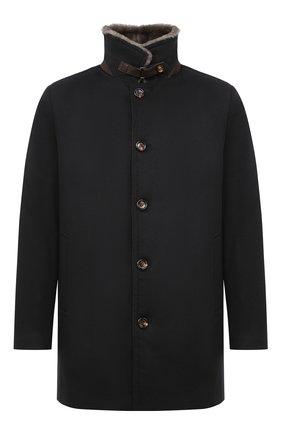 Мужской пальто с меховой подкладкой GIMO'S темно-синего цвета, арт. 20AI.0.360.TLC | Фото 1