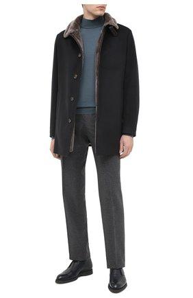 Мужской пальто с меховой подкладкой GIMO'S темно-синего цвета, арт. 20AI.0.360.TLC | Фото 2