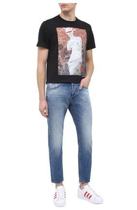 Мужские кожаные кеды superstar ADIDAS ORIGINALS белого цвета, арт. S42992 | Фото 2