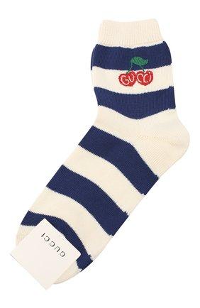 Женские хлопковые носки GUCCI синего цвета, арт. 631519/3GF80 | Фото 1