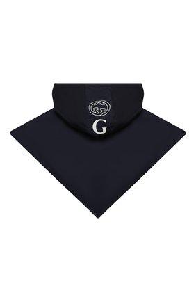 Мужского капюшон GUCCI темно-синего цвета, арт. 627025/4GA89 | Фото 2