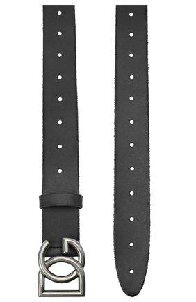 Мужской кожаный ремень DOLCE & GABBANA черного цвета, арт. BC4518/AW597 | Фото 2