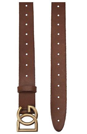 Мужской кожаный ремень DOLCE & GABBANA коричневого цвета, арт. BC4518/AW597 | Фото 2