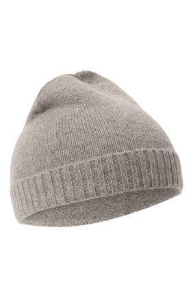 Детского кашемировая шапка OSCAR ET VALENTINE серого цвета, арт. BON02 | Фото 1