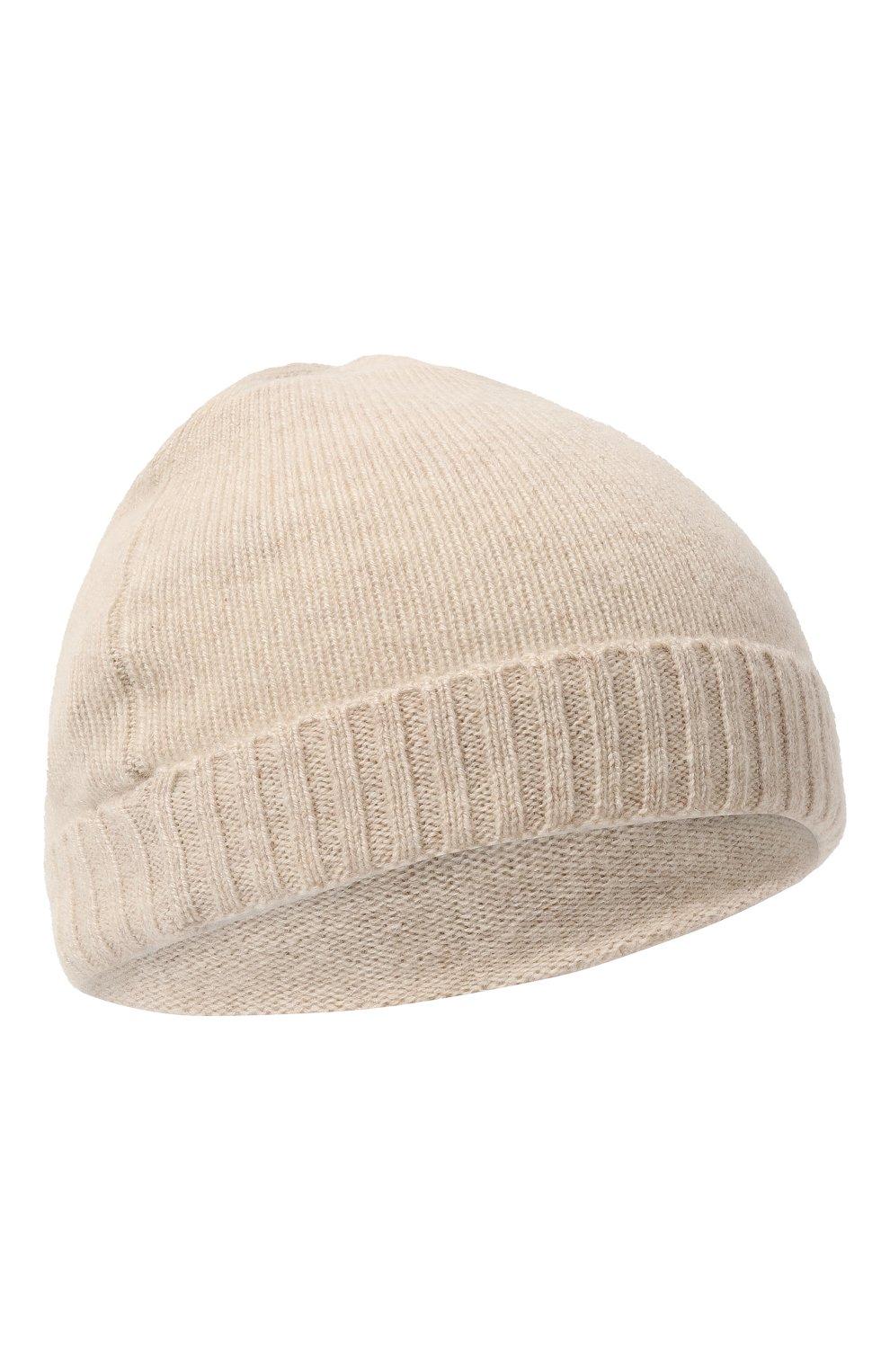 Детского кашемировая шапка OSCAR ET VALENTINE бежевого цвета, арт. BON02   Фото 1 (Материал: Кашемир, Шерсть)