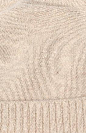 Детского кашемировая шапка OSCAR ET VALENTINE бежевого цвета, арт. BON02   Фото 3 (Материал: Кашемир, Шерсть)