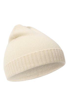 Детского кашемировая шапка OSCAR ET VALENTINE бежевого цвета, арт. BON02 | Фото 1