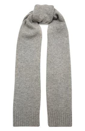 Детский кашемировый шарф OSCAR ET VALENTINE серого цвета, арт. ECH02 | Фото 1