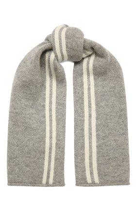 Детский кашемировый шарф OSCAR ET VALENTINE серого цвета, арт. ECH15A | Фото 1